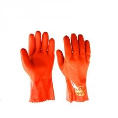 东亚880PVC浸塑手套 耐油耐酸碱防水耐磨防滑手套 临沂劳保手套