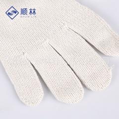 厂家直销白色耐磨防护劳保线手套 吸汗防滑十指细纱劳保线手套