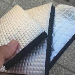 贴铝箔橡塑板 b2级阻燃橡塑板 保温保冷隔热黑色橡塑板