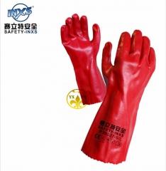 经销批发赛立特L38027红色棉植衬里防滑手套 耐油 防滑 劳保手套 红色 9