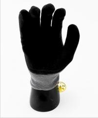 经销批发赛立特INXS10530磨砂丁腈手套防滑耐油手套劳保作业手套 灰和黑 8
