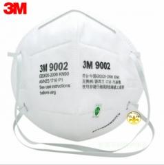 正品保障3M9002头戴式防尘防颗粒物防甲醛口罩环保袋装3M防尘口罩