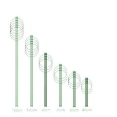 园艺用品植物支撑固定爬藤花架包塑铁丝圆环状支柱花支架工具