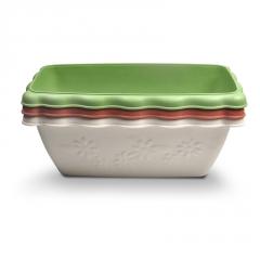 长方形阳台种菜盆波浪长条塑料盆家用树脂盆栽花卉绿植多肉种植盆
