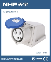 工业插头插座IP44防水工业插座NP3511