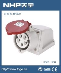 工业插头插座IP44防水工业插座NP6311