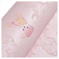 儿童房墙纸 现代简约3d立体无纺布卧室壁纸 男孩女孩粉色蓝色小熊