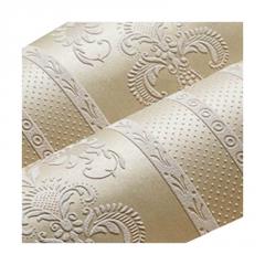 自粘墙纸3D浮雕无纺布简约欧式竖条纹壁纸卧室客厅大面积满铺自贴
