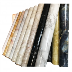 仿真大理石纹墙纸自粘厨房防水防油贴纸餐桌灶台橱柜门壁纸瓷砖贴