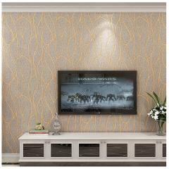 无纺布墙纸卧室酒店宾馆装修简约现代客厅电视背景墙3d立体壁纸