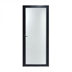 批发定做16极窄框平开门黑色钛镁合金网红款厕所门办公室门厨房门