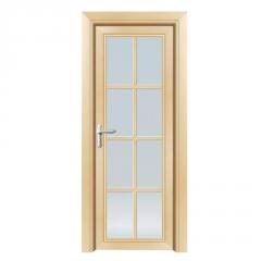 定制移门卫生间钛镁合金平开门浴室门厨房钢化玻璃门厕所门平推门