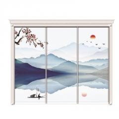 厂家直销衣柜门定做高光移门实木现代简约壁柜推拉门耐磨板滑动门