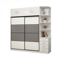 北欧衣柜简约现代经济型组装五门实木质板式主卧室柜子简易大衣橱