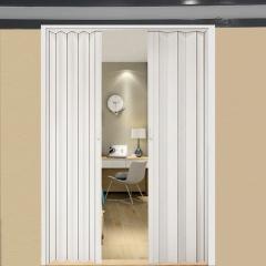 PVC折叠门 推拉室内隔断开放式厨房移门隐形卫生间阳台简易商铺门