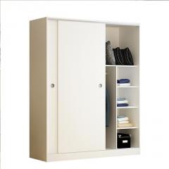 衣柜推拉门简约现代组装板式家具柜子大衣柜实木质卧室儿童衣橱柜