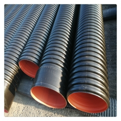 HDPE双壁波纹管  大小口径排污排水管批发零售 规格全价格低SN8