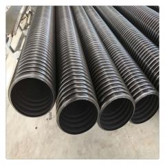 大口径HDPE双壁波纹管200 排污排水管规格全价格低市政工程专用