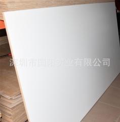 厂价批发18mm暖白小皮纹免漆板家具板 桉木多层生态板胶合板 18mm单面