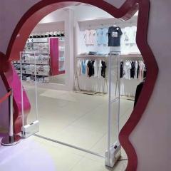 服装亚克力水晶玻璃声磁防盗门报警器化妆品箱包店声磁防盗系统