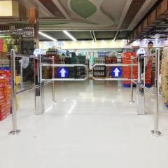 超市入口红外自动感应门商场入口单向只进不出感应门禁