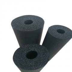 b1级隔热橡塑保温管 铝箔橡塑海绵发泡管大口径 黑色阻燃橡塑管