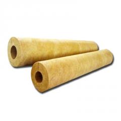 憎水保温岩棉吸音管 高密度a级贴铝箔岩棉复合管 防火矿棉岩棉管