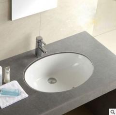 厂家台盆批发 多尺寸椭圆方形台下盆 陶瓷智洁釉石下盆洗手盆OEM 6-9