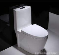 厂家直销 超漩式普通坐便器 小户家用陶瓷连体马桶卫浴 OEM贴牌