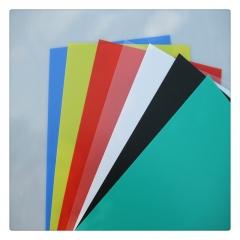 彩色/白色/黑色/本色PP聚丙烯塑料片 磨砂面PP硬片 食品级PP胶片