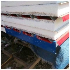 彩钢板封堵泡沫夹心板堵头980型号950岩棉瓦挂件仿古配件三角前锋