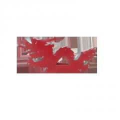 彩钢配件翘角牛角葫芦鸽子双龙戏珠星星配件彩钢屋顶装饰品