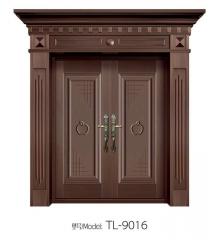 专业生产铜铝大门 豪华家居子母铜铝门定制 双开门豪华别墅大门