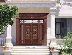 厂家制作款锌合金铜门庭院入户大门定制双开防盗门别墅大门