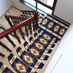 室内实木楼梯踏步垫免胶自粘防滑玫瑰花欧式地毯黄色地垫脚踏垫子