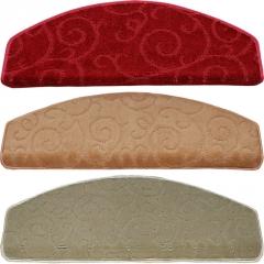 加厚楼梯踏步垫 免胶自粘防滑实木楼梯地毯 酒红色脚垫子定做满铺