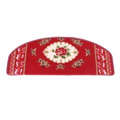 圆形欧式木楼梯踏步垫免胶自吸防滑长方形脚垫婚庆红地毯地垫定制