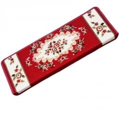 欧式实木楼梯踏步垫免胶自吸防滑长方形脚垫家用玫瑰地毯地垫定制