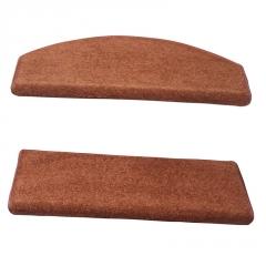 木楼梯纯色地毯免胶自粘防滑楼梯踏步垫家用静音楼梯脚垫满铺定制