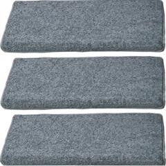 楼梯踏步垫简约纯灰色实木楼梯地毯免胶自粘防滑大理石台阶贴定做