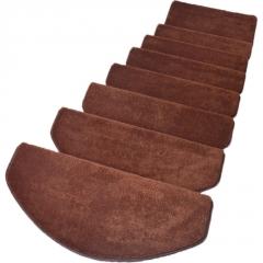 家用木楼梯踏步垫免胶自粘防滑加厚棉绒毛地毯纯红白色脚垫子定制