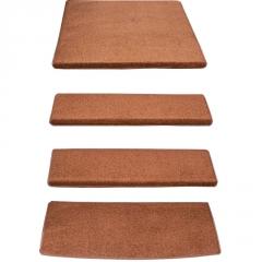 咖啡纯色实木楼梯踏步垫免胶自粘防滑台阶贴地毯家用脚垫子定做
