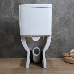 分体墙排直落式座便器普通坐便器入墙直冲式横排陶瓷方型分体马桶