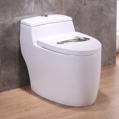 家用抽水欧式个性虹吸连体坐便器陶瓷静音马桶地排水300/400陶瓷