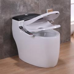 智能马桶黑色一体式家用坐便器即热式全自动冲水遥控马桶电动现货