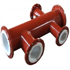 厂家直销  法兰连接内衬四氟pe聚乙烯防腐复合钢管 面向全国发货