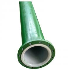直销  聚四氟乙烯复合钢管 法兰连接内衬四氟抗酸碱复合管 报价