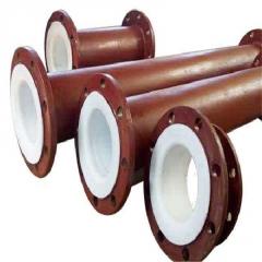 生产供应 法兰连接内衬四氟乙烯钢塑复合管 内衬胶pepopp复合钢管
