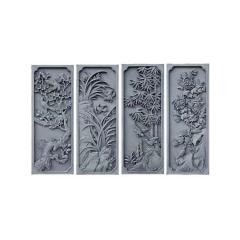 现货供应中式仿古砖雕长方形梅兰竹菊 浮雕影壁墙装饰款式多样