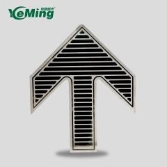 304不锈钢标识地铁屏蔽门地面安全出口入口蓄光型楼梯导向定做
